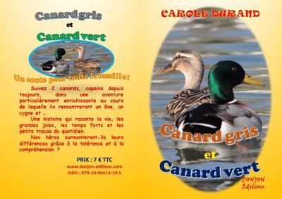 Canard gris et canard vert